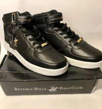 NEW WITH BOX Beverly Hills Polo Club SMASH shoes. Size 13 M Black/Gold/White