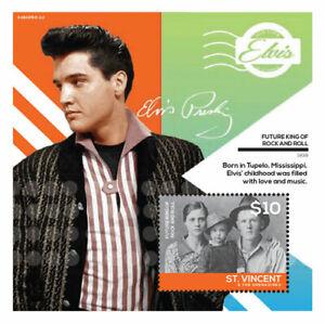 St. Vincent 2014 - Elvis Presley, Future Rock & Roll King - Souvenir Sheet - MNH