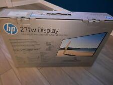 """Monitor Hp 27fw Slim 27"""" IPS pantalla 2 xHDMI VGA D-Sub, Nuevo En Caja"""