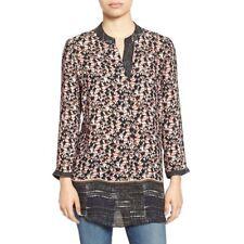 Nic + Zoe Women's Toucan Print  3/4 Sleeve Tunic Top Size XS Loose Fitting NWT