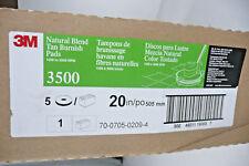"3M Natural Blend Tan Burnish Pads 3500 20"" (5 Pads) 1500-3000 RPM ID 70070502094"