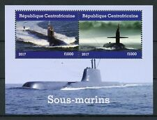 Central African Republic 2017 CTO Submarines 2v M/S Boats Ships Stamps