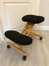 Ergonomic Kneeling Chair Adjustable Wooden Frame Kneeler Posture Stool