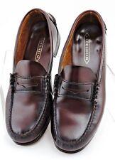 Florsheim Berkley Burgundy Leather Moc Toe Penny Loafers Dress Shoes Men's 10 D