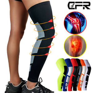 Compression Knee Calf Support Leg Long Pain Relief Injury Sleeve Cycling Sports