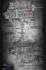 Batman Origins Poster Map of Arkham City, 24x36