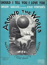 """ORSON WELLES' Musical """"AROUND THE WORLD"""" Cole Porter 1946 FLOP Sheet Music"""