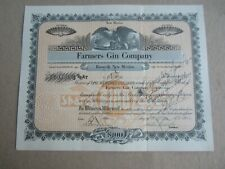 Old Vintage 1924 - FARMERS GIN Company - Stock Certificate - Roswell NEW MEXICO