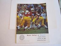 1969 BOSTON COLLEGE VS VILLANOVA COLLEGE FOOTBALL PROGRAM - TUB BN-10