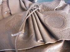 CARLOS FALCHI BROWN LEATHER BUTTERFLY CROSSBODY HANDBAG/PURSE