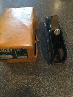 STANLEY #75 BULLNOSE RABBET PLANE - MADE IN ENGLAND -ORIGINAL BOX