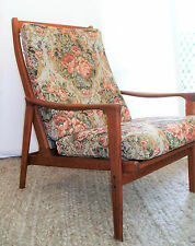 Mid Century Original Parker Armchair Teak Retro Vintage Refurbished Frame Danish