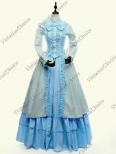Victorian Civil War Striped Dress Mary Poppins Gothic Halloween Costume 175 M
