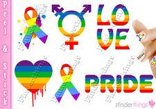 Gay Pride LGBT Ribbon Love Mix Nail Art Decal Sticker Set LGB901