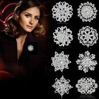 Charm Wedding Bridal Crystal Rhinestone Flower Bouquet Brooch Pin Women Jewelry