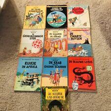 10 ältere Kuifje Comic Hefte Tintin Tim und Struppi Casterman Hergé Dutch