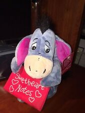 "DIsney Eeyore Sweetheart Notes Plush Stuffed Animal Valentines 10"" NEW"