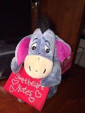 "DIsney Eeyore Sweetheart Notes Plush Stuffed Animal Valentines 10"" NEW"