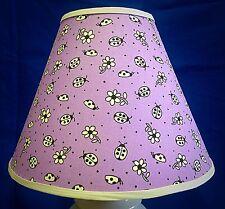 Ladybugs on Purple Lampshade Ladybug Handmade Lamp Shade