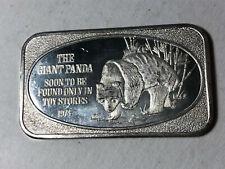 1974 USSC The Giant Panda 1 Oz .999 Silver Art Bar