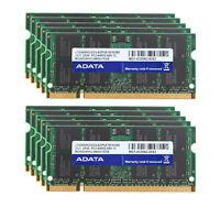 Adata 2G 4GB 8GB 20 GB RAM DDR2-800Mhz PC2-6400S 200Pin SODIMM Laptop Memory lot
