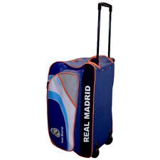 REAL MADRID FC TROLLEY WITH WHEELS TRAVEL HOLIDAY HOLDALL BAG NEW XMAS GIFT