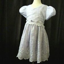Lavender Easter Dress Size 6 Girls Short Sleeve Purple White Lace Party Dressy