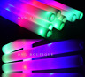50 PACK LED Foam Sticks Glow Favors Light Up Rally Rave Cheer Tubes Soft Baton