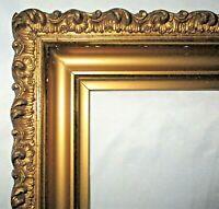 "Antique Fits 13.85 x 16.85"" Lemon Gold Gilt Gesso Picture Frame Fine Art Country"