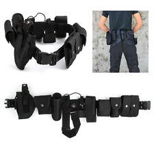Police Guard tactique Belt de ceinture Avec Système de sécurité 9 Pouch Utility