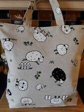 Black sheep print cotton, handmade fully lined shopping/tote bag by samylovesbag