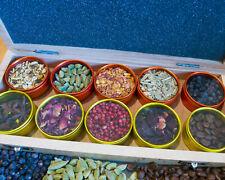 Gin Botanicals Wood Box, Gin Flavoring Gift Box, Garnish - Kit Gift Present