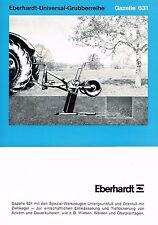 Eberhardt- Universal- Gruberreihe Gazelle 631, orig. Prospekt 1969