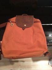 Longchamp Le Pliage Backpack in  burnt orange