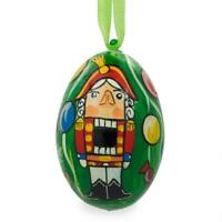 Nutcracker on Christmas Tree Wooden Christmas Ornament 3 Inches