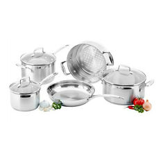 100% Genuine! SCANPAN Impact 18/10 S/S 5 Piece Cookware Set! RRP $549.00!