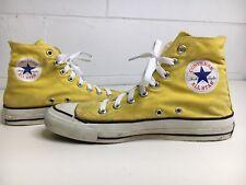 Vtg CONVERSE 70s 80s Shoe Hi Top Chuck Taylor YELLOW USA Men 6.5 Women 8.5 Rare!