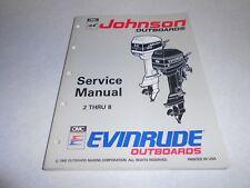 1993 2 hp THRU 8 hp Genuine Evinrude Johnson Outboard Repair & Service Manual