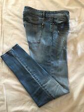(*-*) WHITE HOUSE BLACK MARKET * Womens THE SKINNY Blue Jeans / Denim * Size 6