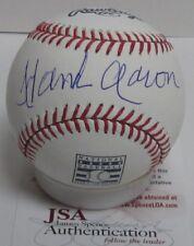 Braves HENRY HANK AARON Signed Official HALL OF FAME LOGO Baseball AUTO - JSA