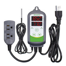 Inkbird Digital Temperature Controller 110V Prewired Sensor Heat Cool Fan US 10A