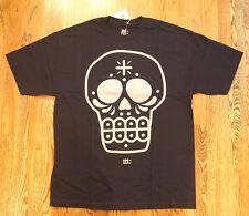 RARE Black Silver Calavera SUGAR SKULL Manik Skateboards XL T-Shirt
