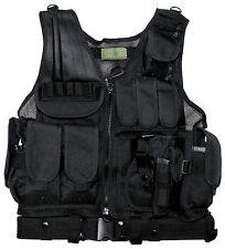 MFH Weste USMC schwarz Modell Tactical Vest Sicherheitsdient Security Weste