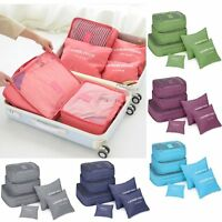 #6 Pcs Clothes Underwear Socks Packing Cube Storage Travel Luggage Organizer BGS