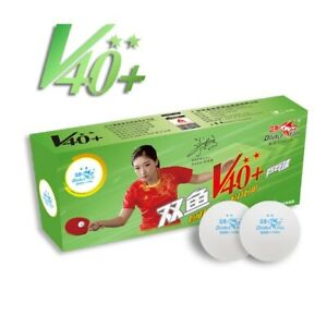 Double Fish V40+ Volant 2 Stars Table Tennis Ball (10pcs)