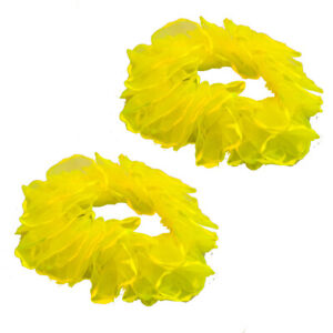 Neon Hair Scrunches Scrunchie Scrunchie Ponytail Elastic Bobble Scrunchy Yellow