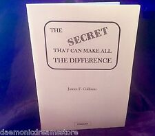 THE SECRET THAT CAN MAKE ALL THE DIFFERENCE Finbarr Occult Magic Grimoire Magick
