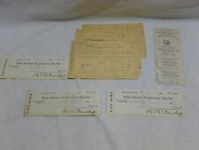 Old Antique Railroad Train Freight Bill Receipt  Payroll Check Conductor Lot