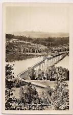 MT HOOD OREGON WASHINGTON Interstate Bridge Vintage Real Photo Postcard