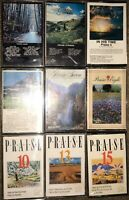 "LOT OF 9 Maranatha "" Praise "" CASSETTE TAPES THE ALBUM STRINGS 4 5 7 8 10 13 15"